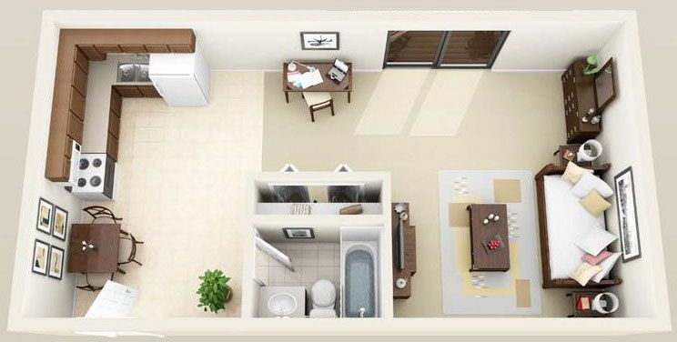 600 Square Feet Apartment Design