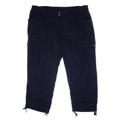 3b31e7b61789d INC International Concepts Plus Size Ruched Linen Cargo Pants Blue – Best  Women Shop