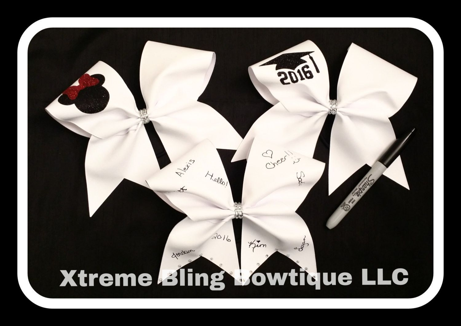 Cheer Bow --Autograph Cheer Bow