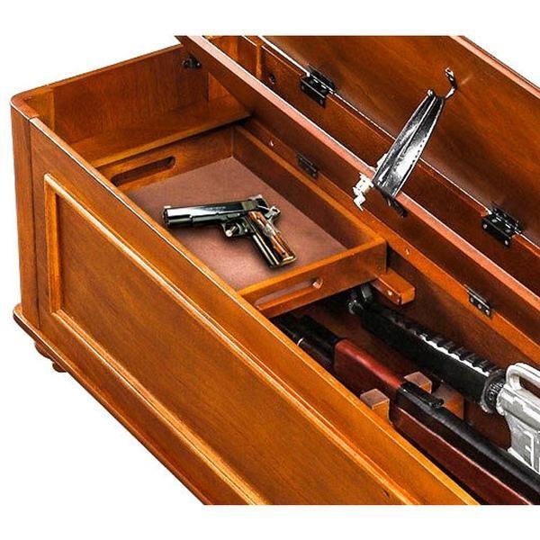 Pin On Gun Concealment Bench Wooden Gun Bench