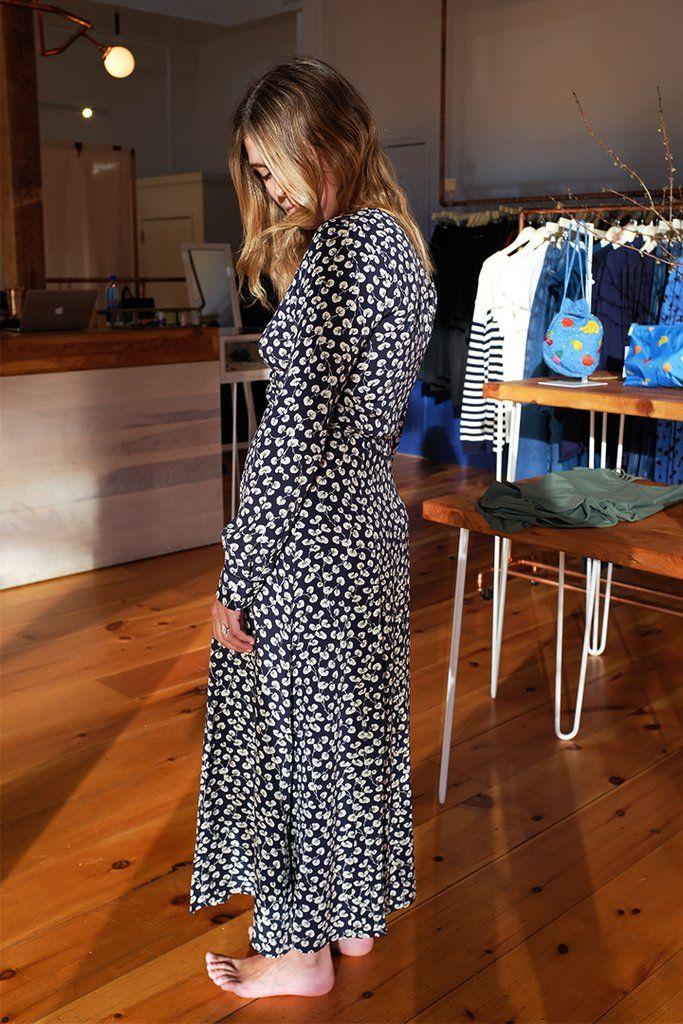 Roseburg Crepe Dress, Total Eclipse by Ganni