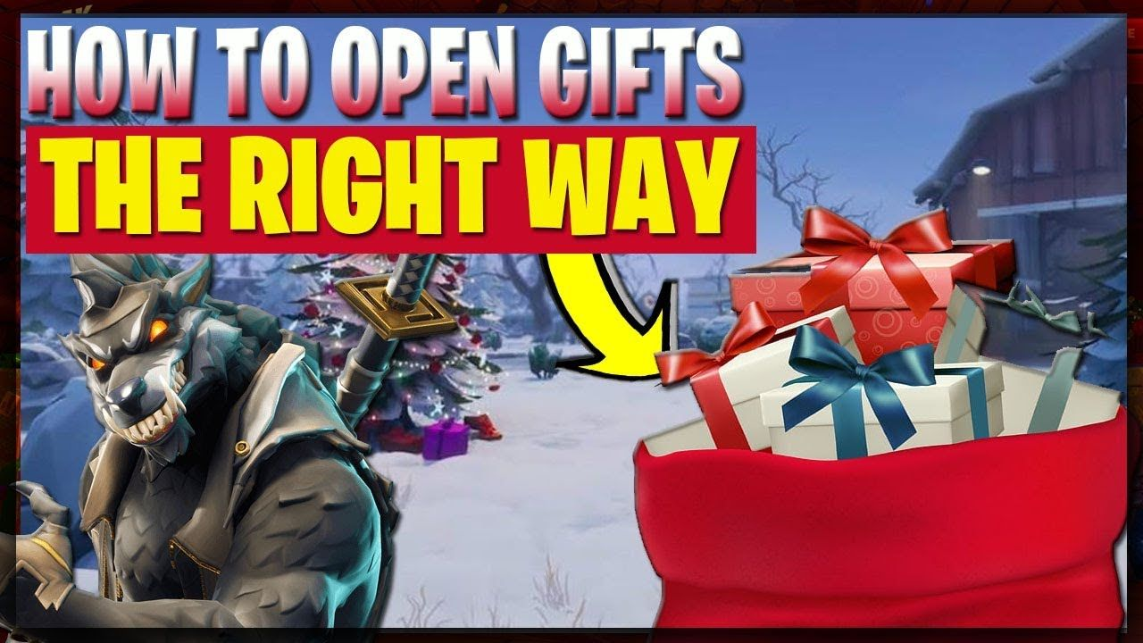🎁 Fortnite WINTERFEST HOW TO OPEN PRESENTS THE RIGHT WAY