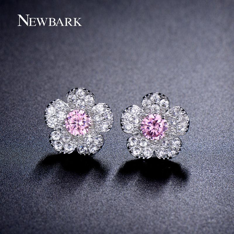 Find More Stud Earrings Information about NEWBARK Lovely Snow Flower Stud… 59d5b6e98fa0
