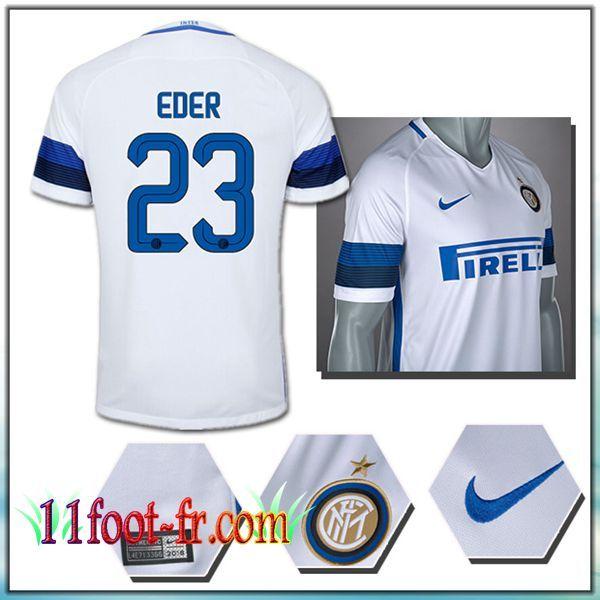 EDER 23 Inter Milan Maillot Exterieur 1617 Blanc Homme