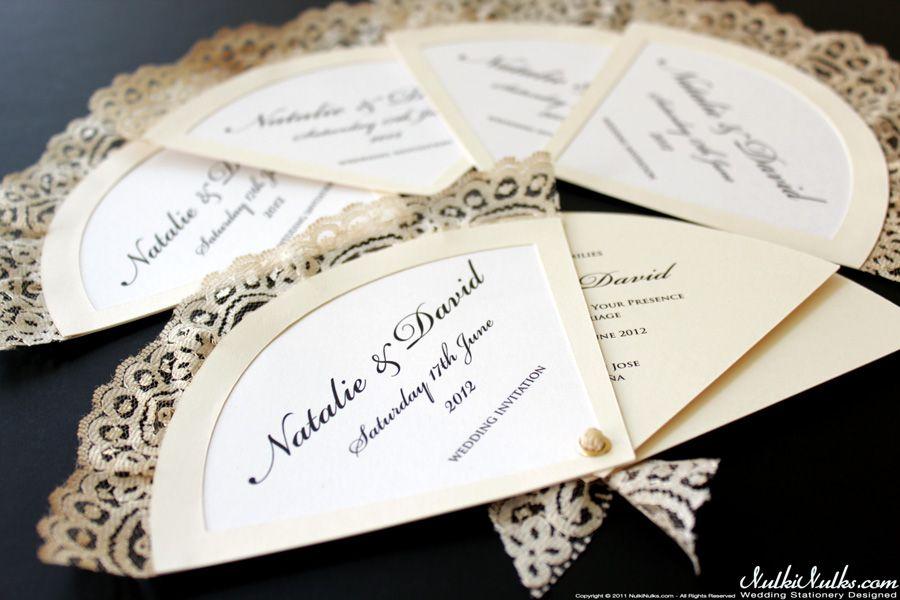 Spanish Fans Wedding Theme Real Weddings Stationery On Spanish