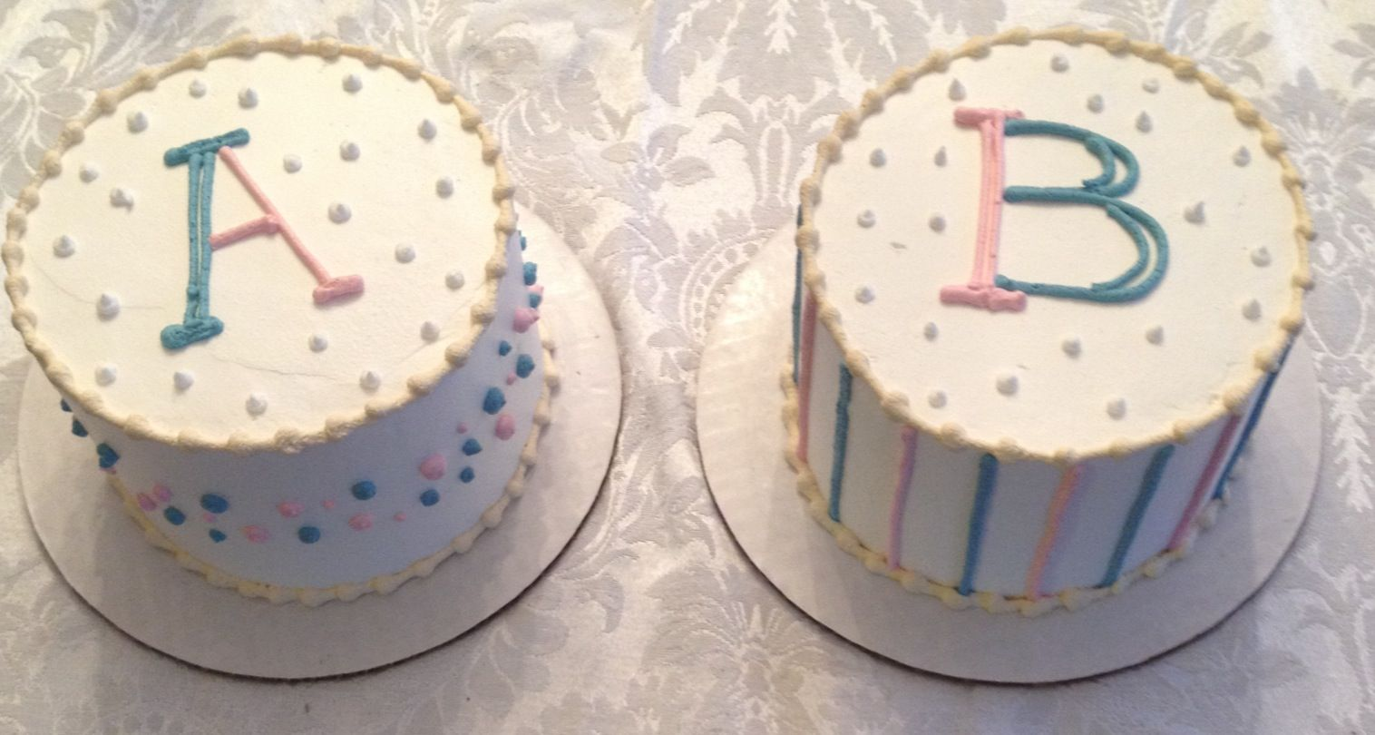 Gender reveal pic for the twins - Google Search