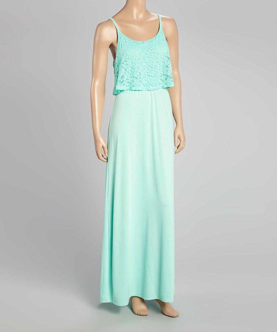 Wallflower aquamarine lace overlay maxi dress by wallflower zulily