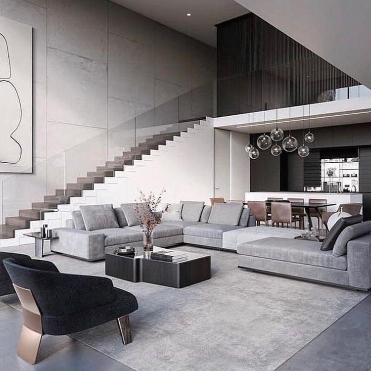 Honey Norenmin Modern Houses Interior Living Room Design Modern House Interior