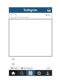 Instagram Template Visuals Pinterest School Bulletin Board - Instagram cut out template