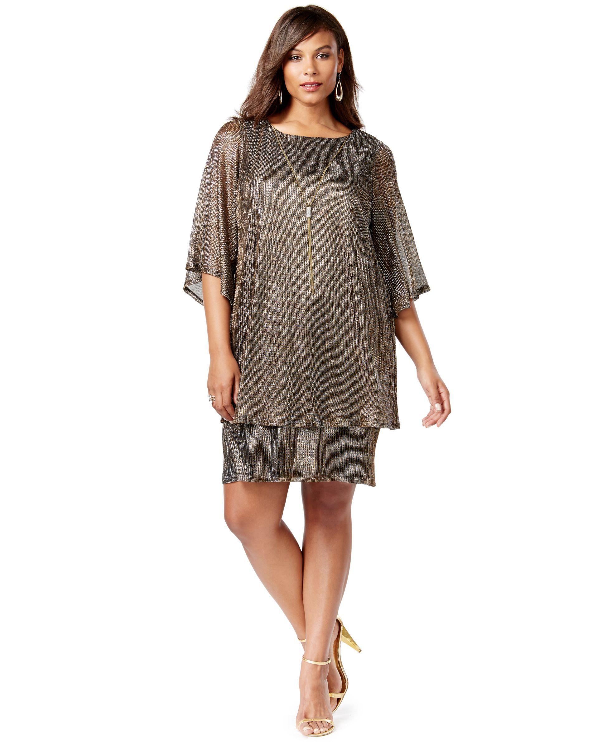 92d51520c Jessica Howard Plus Size Popover Cape Dress