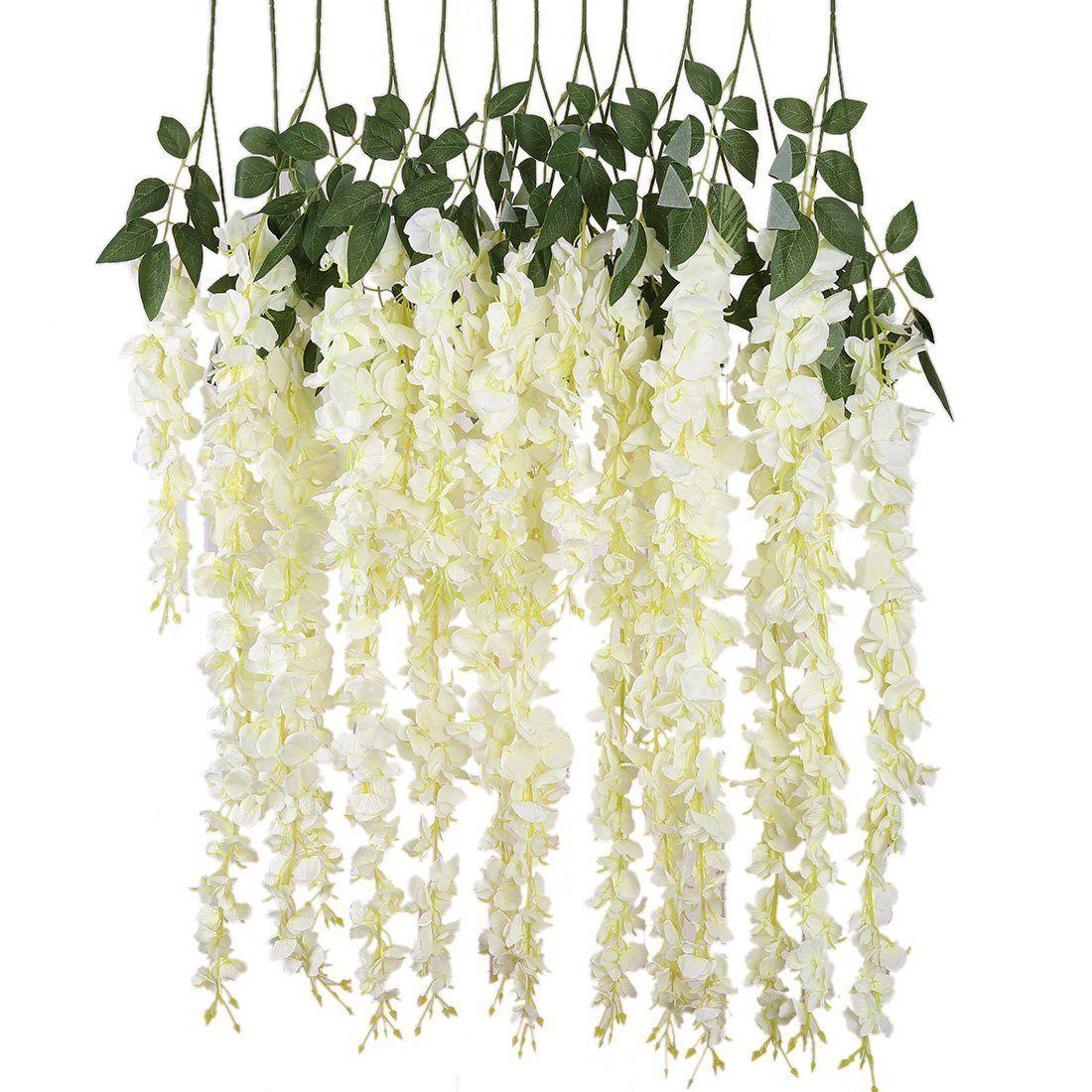 Amazon.com: Luyue 3.18 Feet Artificial Silk Wisteria Vine Ratta Silk ...