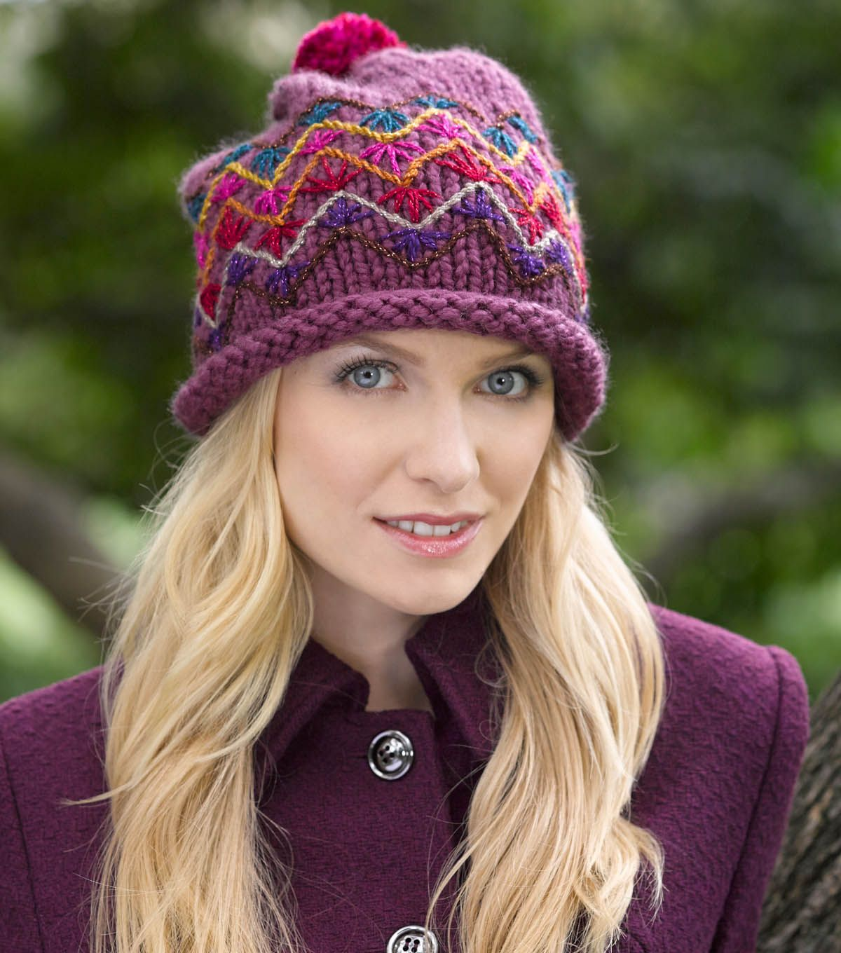 Embroidered slouch hat at slouch hat pattern