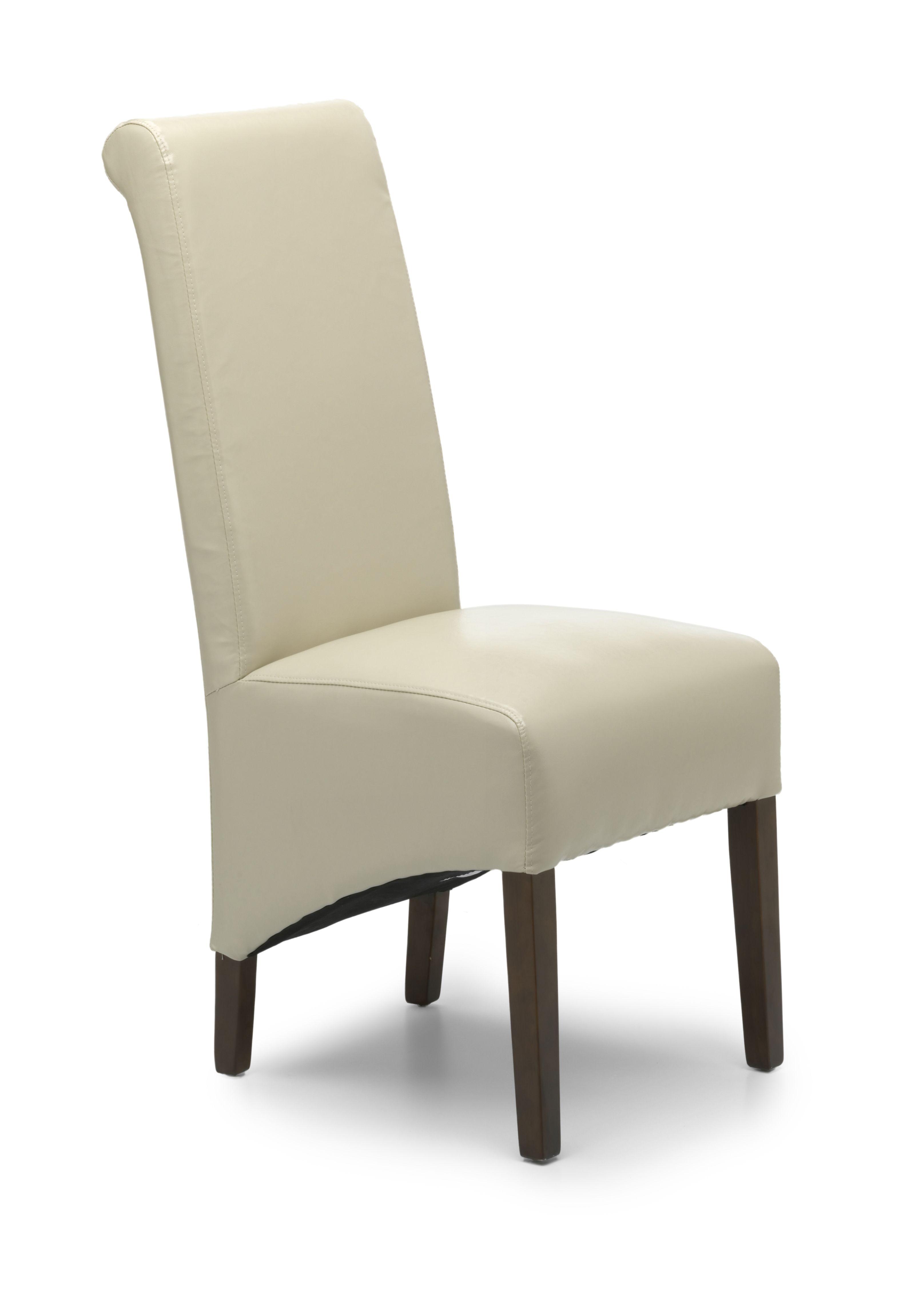 Krista Dark Walnut Dining Chair Set Of 2 Walnut Dining