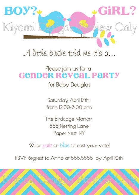 A little birdie told mender reveal party by kiyomidesigns items similar to a little birdie told mender reveal party custom personalized invitation diy printable file on etsy stopboris Choice Image