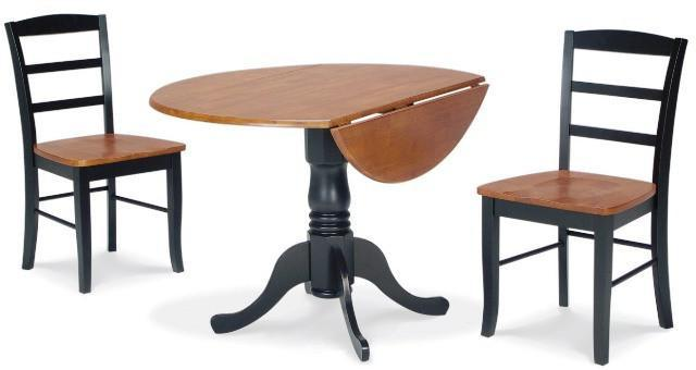 Drop Leaf Dining Set With Madrid Chairs