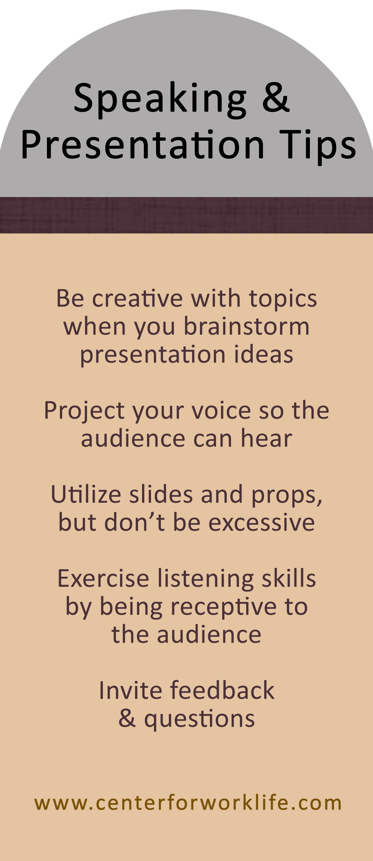 speaking and presentation tips for leaders #leadership #worktips