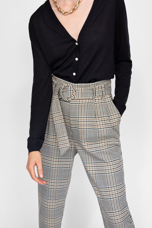Pantalon Cinturon Hebilla Ver Todo Pantalones Mujer Zara Chile Pantalones De Vestir Pantalones Pantalones Mujer