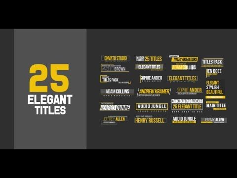 25 title animations after effects template after effects 25 title animations after effects template maxwellsz