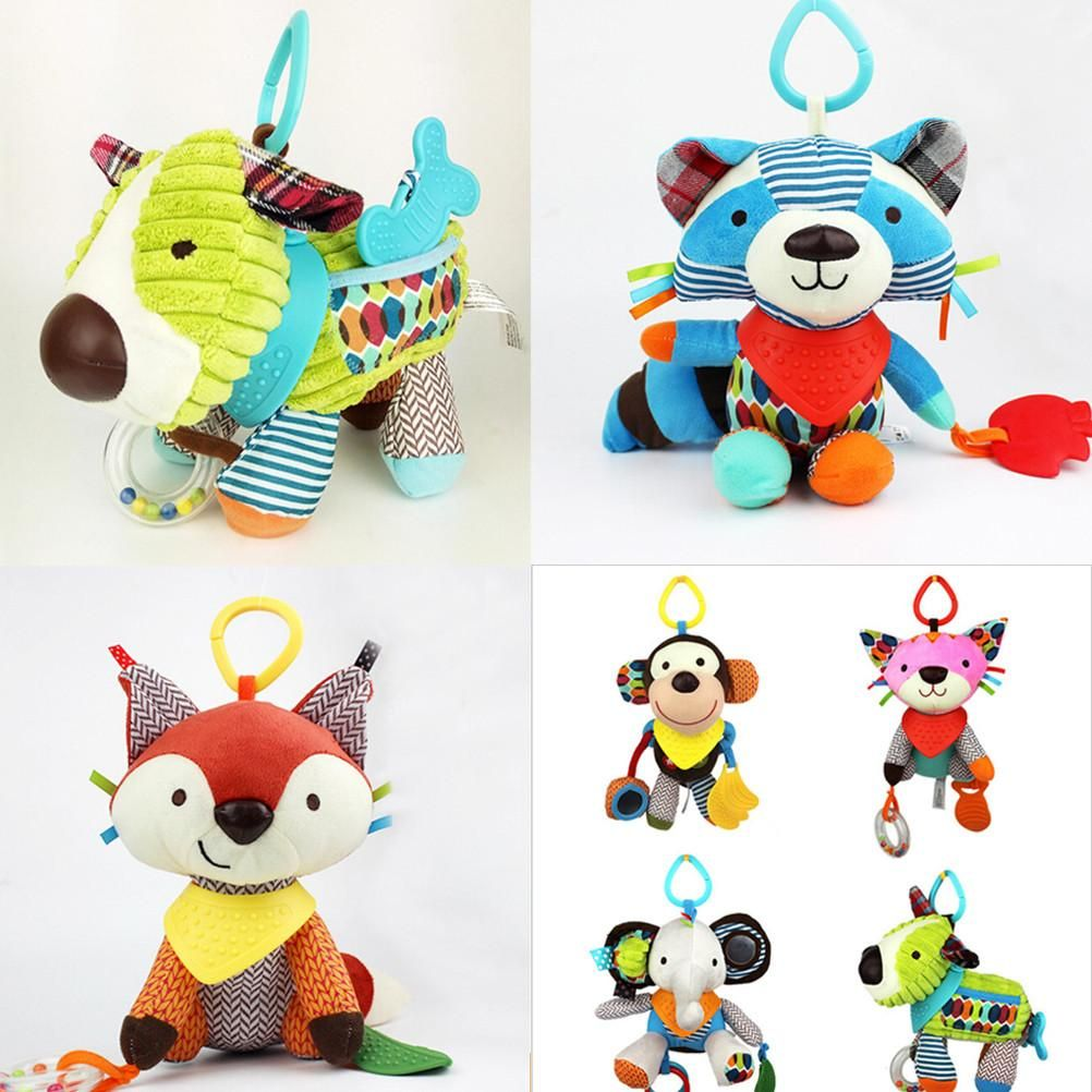 Car hanging toys  cmcm best quality Baby Kids Cartoon Animal Plush Baby Rattles
