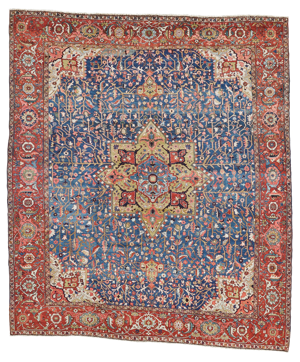Heriz Carpet Northwest Persia Approximately 377 By 319cm 12ft 4in 10ft 6in Circa 1900 In 2020 Antique Indian Rug Rugs On Carpet Antique Persian Carpet