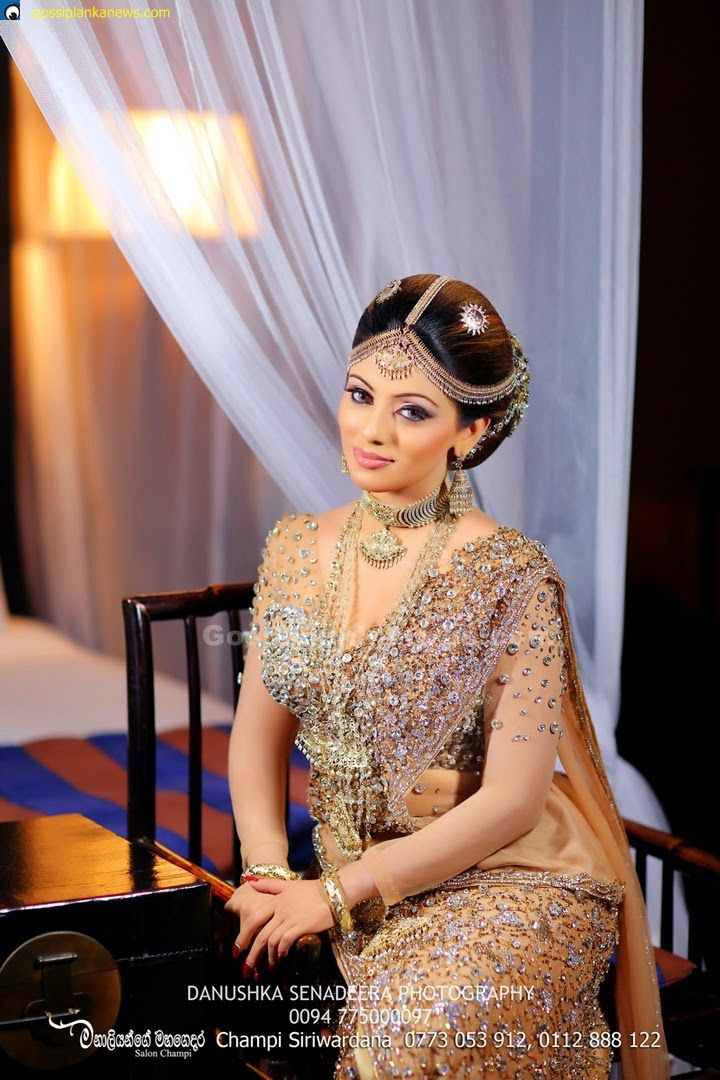 Gossip Photo Gallery Nathasha Perera S Wedding Dress In Kandyan Style
