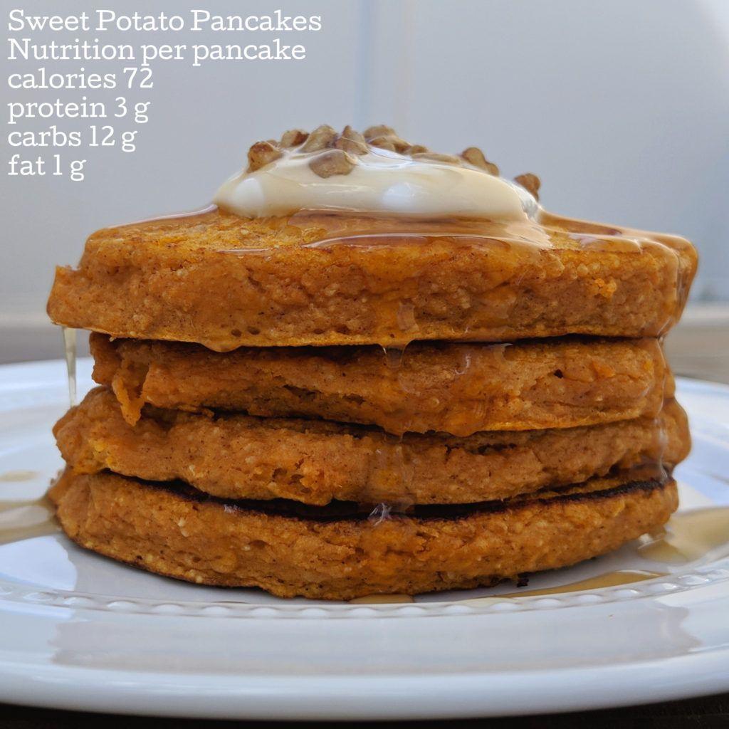 Sweet Potato Protein Pancakes #proteinpowderpancakes