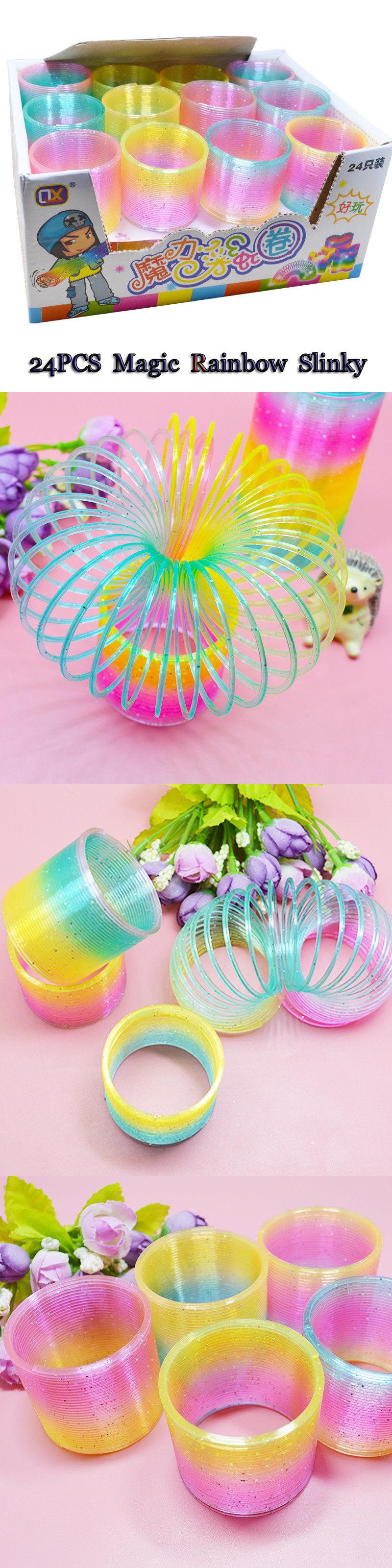 Slinky Kids Toys Magic Plastic Slinky Rainbow Colorful