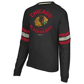 Get this Chicago Blackhawks Ice Pro Applique Long Sleeve Crew T-Shirt at  ChicagoTeamStore.com 0ae764589