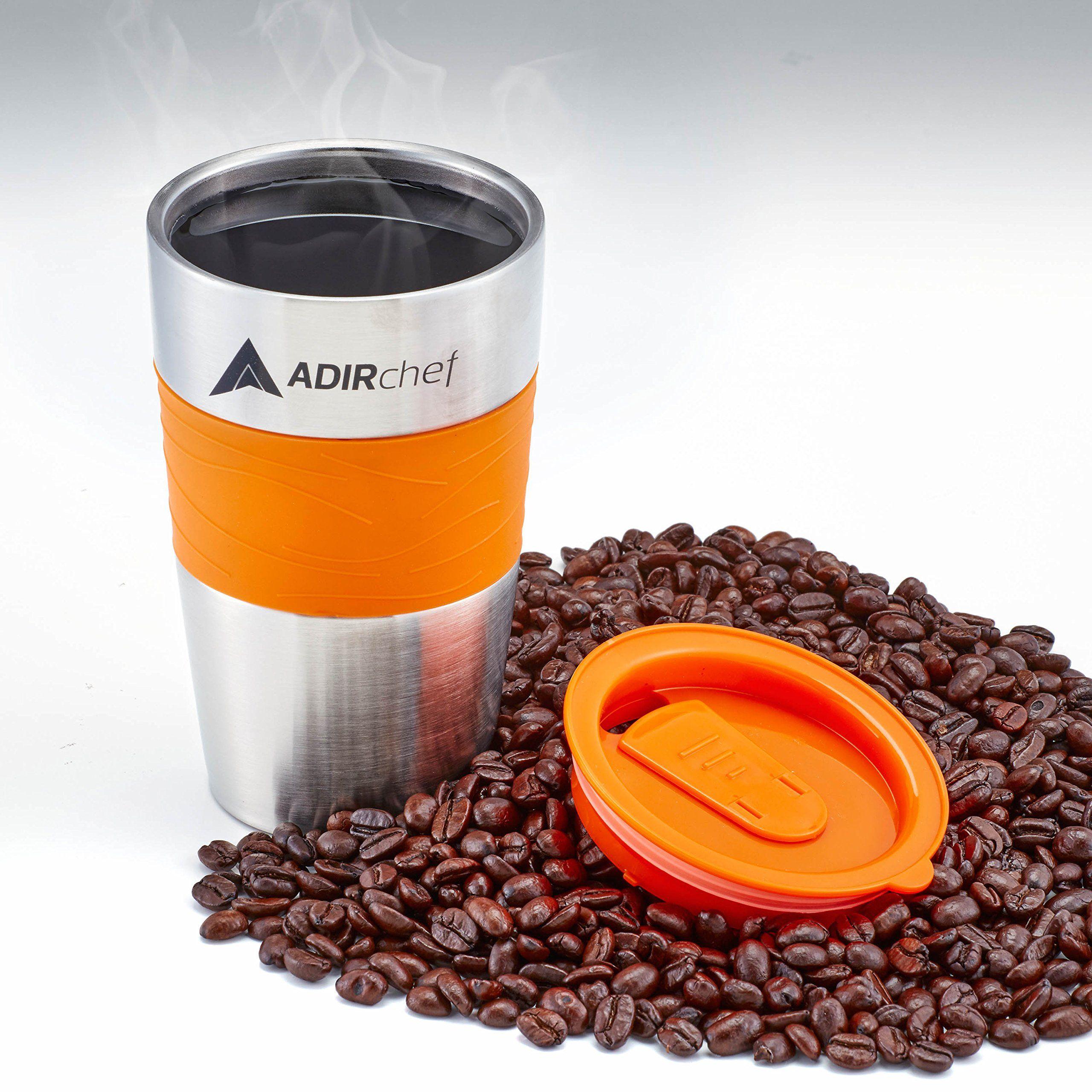 AdirChef Grab N Go Personal Coffee Maker with 15 oz