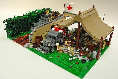 Lego tent lego ww2 battalion aid station lego world war 2 battalion medic
