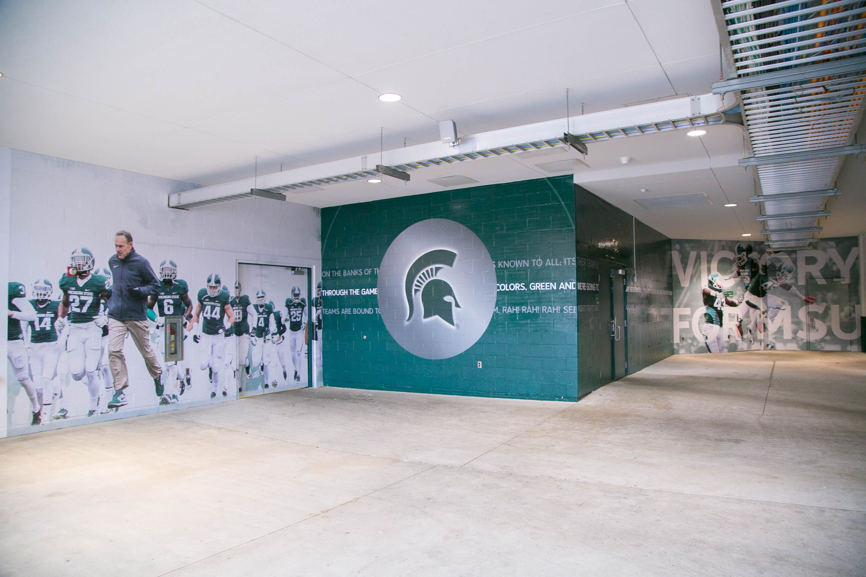 Michigan State University Football Stadium Gate Branding Design Experiential Commercial Office Design
