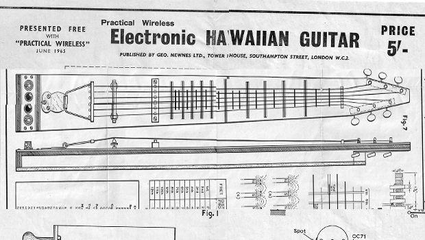 1963 hawaiian lap steel guitar plans incl full. Black Bedroom Furniture Sets. Home Design Ideas