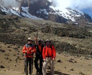 After leaving Lava Tower our Boys take a snapshot before leaving for Barranco Camp with Private Expeditions!