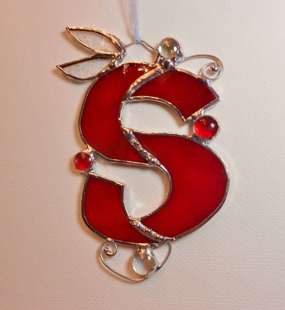 Letter S Initial capital Cranberry Red