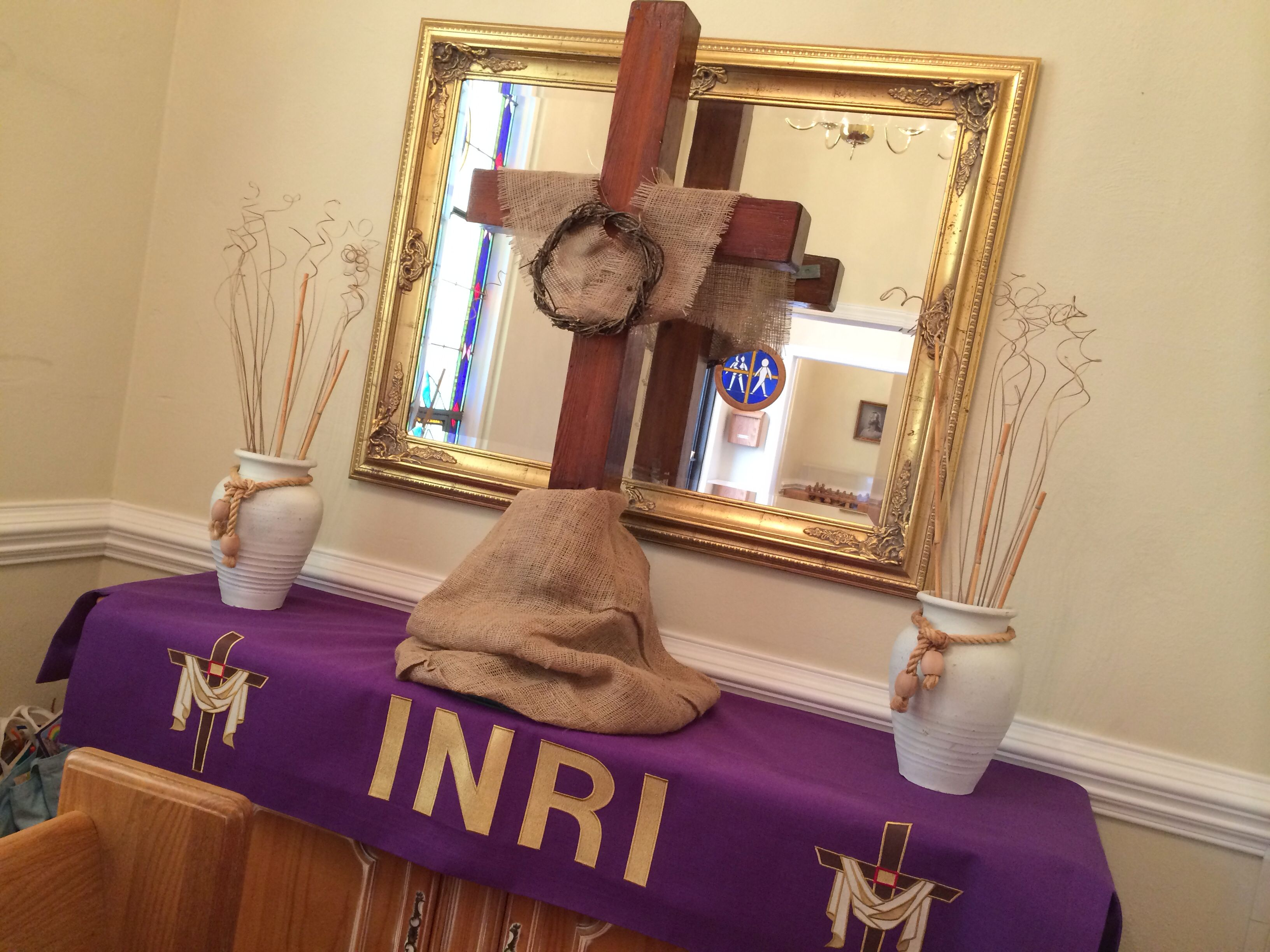 Lent Installation In Church Narthex Decor