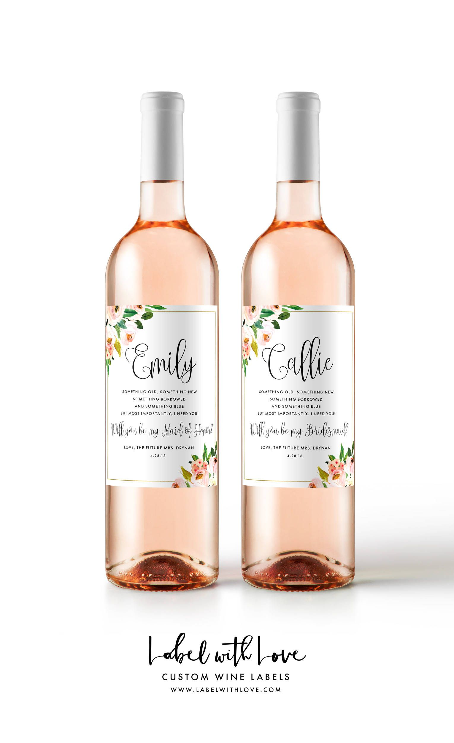 Will You Be My Bridesmaid Stickers or Wine Labels Will You Be My Maid of Honor Bridesmaid Gifts Ask Your Bridesmaids Bridesmaid Wine Bottle Labels Bridesmaid Proposal Maid of Honor Gift