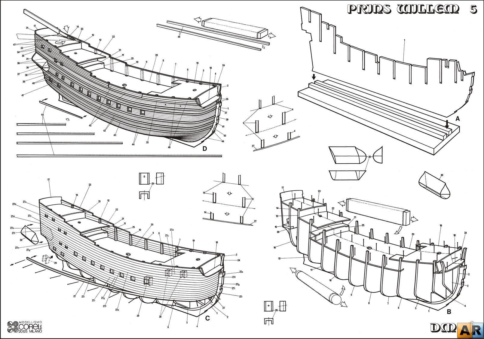Деревянный корабль своими руками чертежи фото 1000