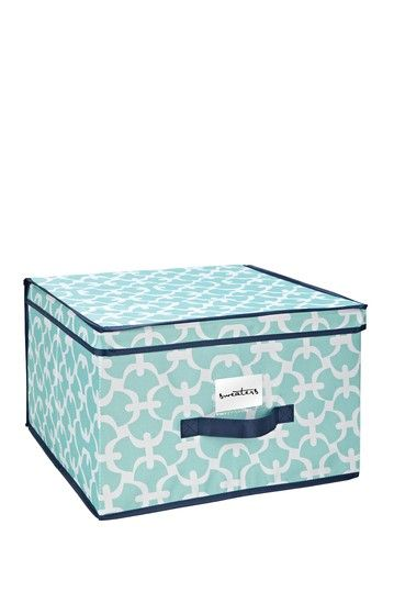 One Kings Lane - Get Organized - Jumbo Storage Box Aqua Scout  sc 1 st  Pinterest & Jumbo Storage Box - Light Aqua Scout by MacBeth: Organize with Color ...