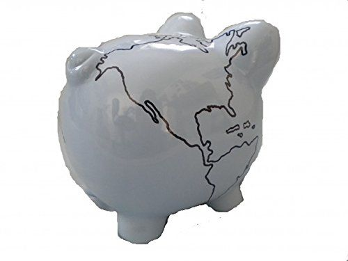 globe piggy bank 8 inch artist original personalize destination