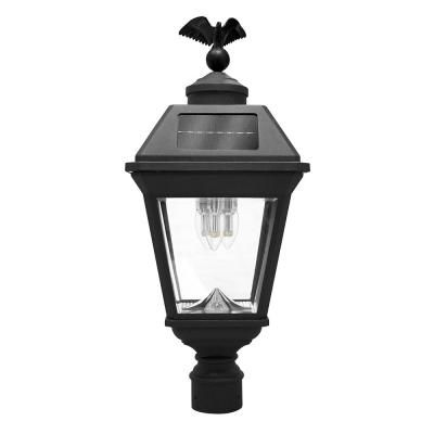 Gama Sonic Imperial Bulb 3 Light Outdoor Black Integrated Led Post Light With 3 In Fitter And Gs Solar Led Light Bulb Solar Light Bulb Solar Led Lights Solar Lights