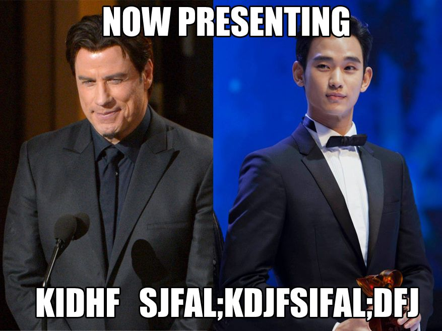If John Travolta presented the DramaFever awards