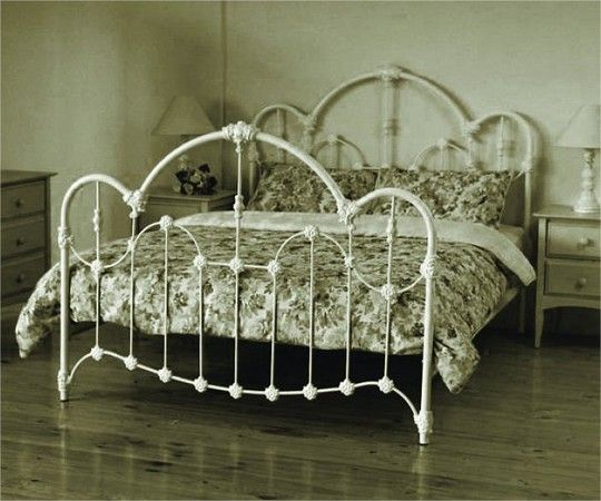 Queen Normandy Bed Antique White Iron Bed Frame Iron Bed