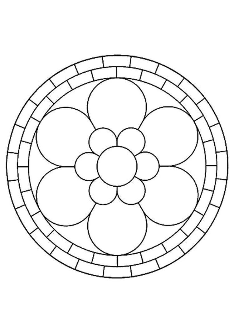 Coloriage Mandala fleur | coloriage | Pinterest | Coloriage mandala ...