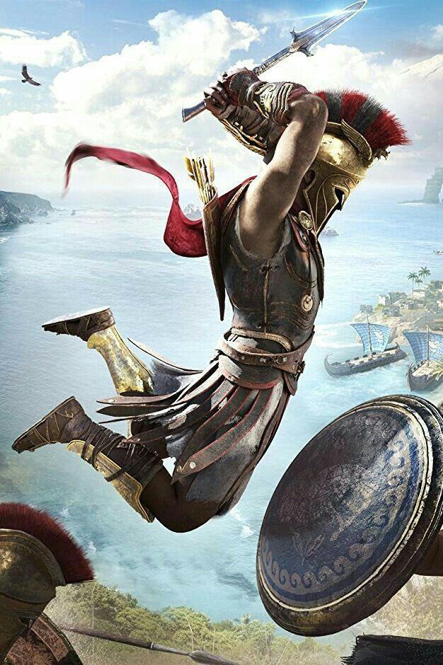 Pin de kassie hogan em Video Games Guerreiro grego
