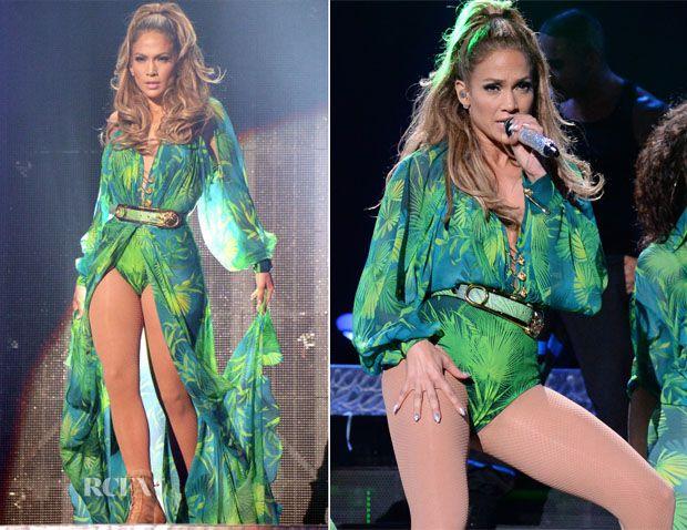 Jennifer Lopez In Versace, Versus & Atelier Versace - Neighborhood Sessions Bronx Concert