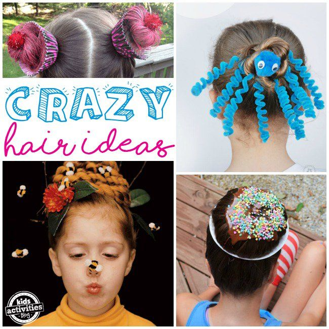 Crazy Hair Day Ideas For School Crazy Hair Crazy Hair