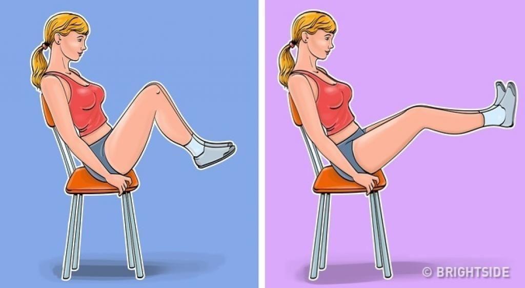 7 exercices pour abdominaux à faire à l'aide de votre chaise