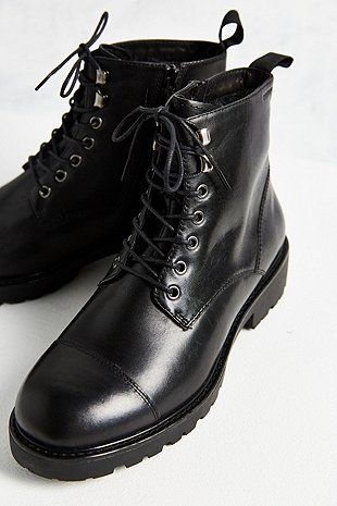 f237629e3a Vagabond Kenova Black Leather Lace-Up Ankle Boots