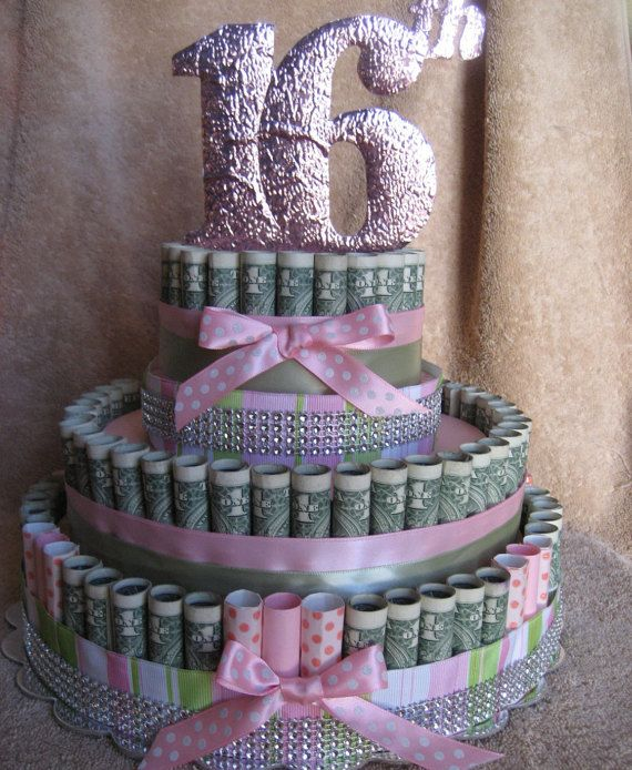 Pin By Marie Castiglione On Money Cakes Money Cake 16th
