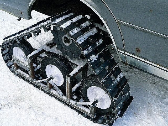 Homebuilt Tracks On A Chevy Caprice Half Track Style